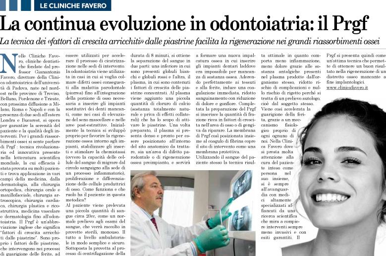 L'evoluzione in odontoiatria: il Prgf